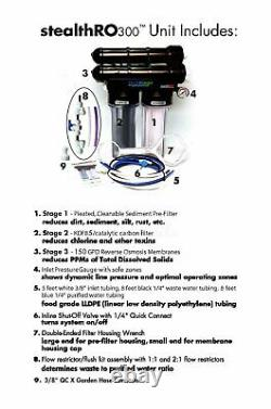 Hydro Logic Stealth RO 300 Reverse Osmosis System Water Filter with KDF UPGRADE
