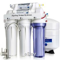 ISpring 5 Stage 75GPD Reverse Osmosis Water Filter System RO Filtration