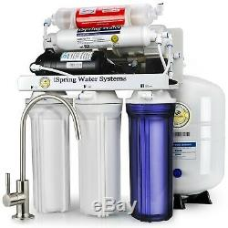 ISpring 6-Stage 75GPD Reverse Osmosis Alkaline PH Water System with Pump #RCC7P-AK