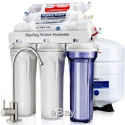 ISpring 6 Stage 75GPD Reverse Osmosis Alkaline Water Filter System RO Filtration