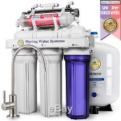 ISpring 7-Stage 75 GPD UV Alkaline Reverse Osmosis Water System RO #RCC7AK-UV