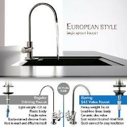 ISpring 7-Stage Under-Sink Reverse Osmosis System 75GPD RO Water Alkaline UV
