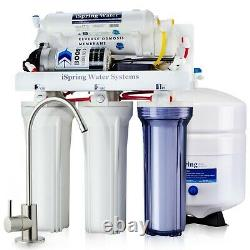 ISpring RCC100P Reverse Osmosis RO Water Filter System 5 Stage 100GPD with Pump