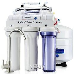 ISpring Under Sink 6-Stage Reverse Osmosis System with UV Filter 75GPD RO Water