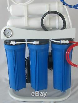Light Commercial Reverse Osmosis Water Filter System 300 GPD 14 gallon tank pump