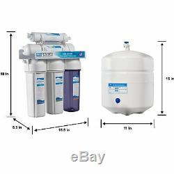 NU Aqua Platinum Series 5 Stage 100GPD Reverse Osmosis System Water Filtration