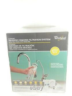 New Whirlpool WHER25 Reverse Osmosis (RO) Filtration System With Chrome Faucet