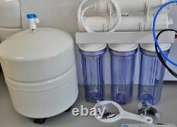 Oceanic 5 Stage Reverse Osmosis Water Filter System with Clear Housing 50 GPD USA