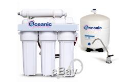 Oceanic 6 Stage 50 GPD Reverse Osmosis Alkaline Water Filtration System RO USA