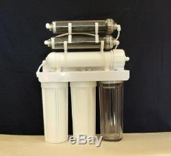 Oceanic 6 Stage Aquarium Reef Reverse Osmosis RODI Water Filter System Dual DI