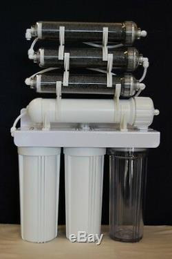 Oceanic 7 Stage DI Aquarium Reef Reverse Osmosis RO/DI Water Filtration System
