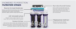 Oceanic Home Pure Reverse Osmosis RO Water Filter System 5 Stage 75 GPD USA