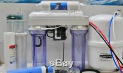 Oceanic Reverse Osmosis Drinking Water Filter System Permeate Pump 75 GPD RO USA