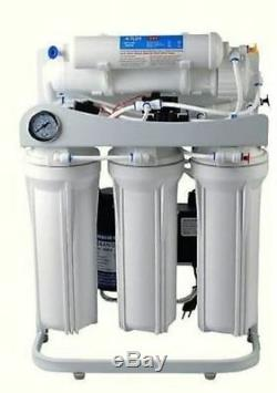PREMIER REVERSE OSMOSIS WATER SYSTEM 100 GPD 6 Stage Alkaline Filter BoosterPump