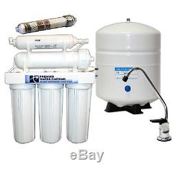 PREMIER RO Reverse Osmosis Water Filtration System 150GPD Alkaline Ionizer -ORP