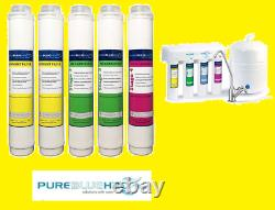 Pure Blue H2O Filter 5PC Reverse Osmosis Filter System Replacement Filters