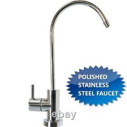 RO/DI Dual Outlet Drinking Water/Aquarium Reef System Manual Flush 100 SS Faucet
