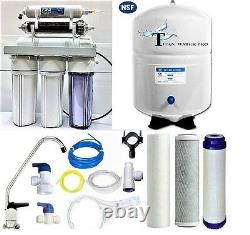 RO/DI Dual Outlet Reverse Osmosis Water Filter Systems 4.5 G Tank 100 GPD