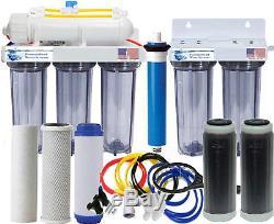 RO/DI Reverse Osmosis Aquarium/Reef System Dual DI All Clear Manual Flush 75 GPD