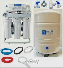 RO Reverse Osmosis Water FIltration System TFC-2012-150 GPD, 10 Gallon Tank, BP