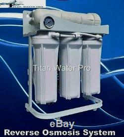 RO Reverse Osmosis Water Filter 5 Stage System 300 GPD-Booster Pump High Flow