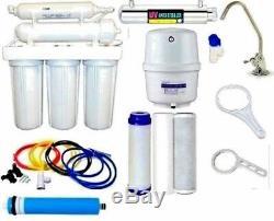 RO Reverse Osmosis Water Filter 6 Stage System UV Light Sterilizer 50 GPD
