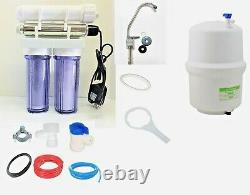 RO Reverse Osmosis Water Filter System 5 Stage with UV Light Sterilizer 75 GPD