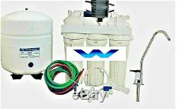 RO Reverse Osmosis Water Filter System Permeate Pump ERP1000- 100 GPD 5 STAGE