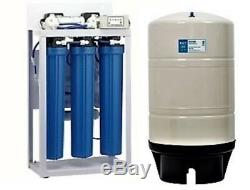 RO Reverse Osmosis Water Filtration System 400 GPD Auto Flush Booster Pump