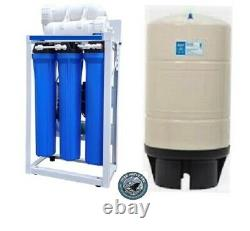 RO Reverse Osmosis Water Filtration System 600 GPD Booster Pump 20 Filters