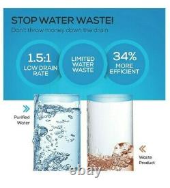 RO Reverse Osmosis Water Filtration System, Under Sink Tankless Purifier