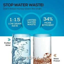 RO Reverse Osmosis Water Filtration System, Under Sink Tankless Purifier, 1.51