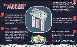 Residential Reverse Osmosis Pure Drinking Water Filtration System RO for Homes