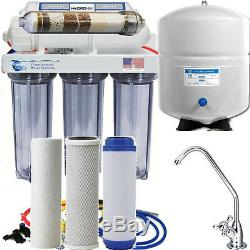 Reverse Osmosis Alkaline/Ionizer Neg ORP Water Filter System 75G CLEAR Housings