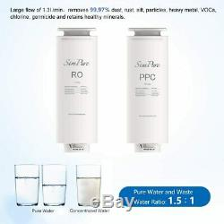 Reverse Osmosis Drinking RO Water Filtration System 400 GPD Tankless TDS Reduct