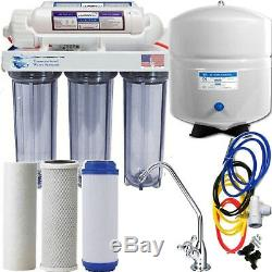 Reverse Osmosis Hi Alkalinity Ionizer ORP Clear Filter System Large 5 Gal Tank