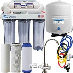 Reverse Osmosis High Alkalinity Ionizer Neg ORP System Clear Polished SS Faucet