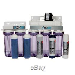 Reverse Osmosis RO DI WATER FILTER SYSTEM 6 STAGE 150 GPD PERMEATE PUMP ERP1000