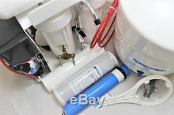 Reverse Osmosis System 100 GPD 4 Stage with Booster Pump Compact