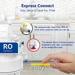 Reverse Osmosis Water Filtration System Clear RO plus 4 Free Filters 50 GPD