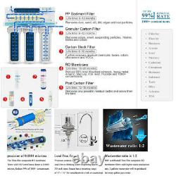 Reverse Osmosis Water Filtration System RO + Extra12 Free Filters 75 GPD US