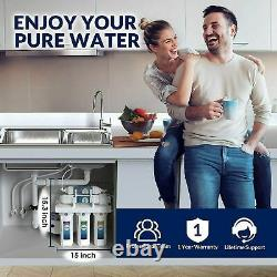Reverse Osmosis Water Filtration System T1-5 Stage Under Sink RO Water Filter