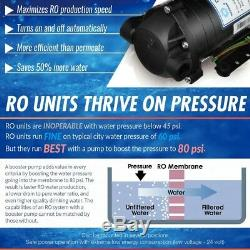 Reverse Osmosis Water Filtration System Under Sink with Pump and Alkaline Filter
