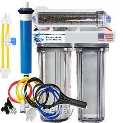 Ro/di Reverse Osmosis Aquarium/reef System 4 Stage Manual Flush Valve 100 Gpd