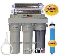 Ro/di Reverse Osmosis Aquarium/reef System 6 Stage 150 Gpd