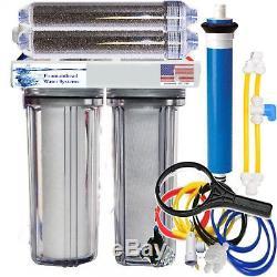 Ro/di Reverse Osmosis Aquarium/reef System Dual DI 5 Stage Flush Valve 100 Gpd