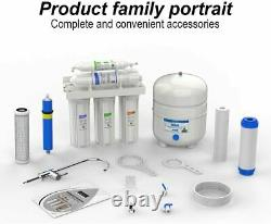 SimPure Reverse Osmosis Water Filtration System 5 Stage 100 GPD Extra 5 Filters
