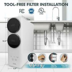 SimPure Reverse Osmosis Water Filtration System Tankless 400 GPD TDS Reduction
