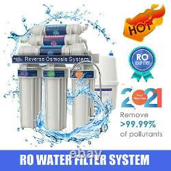T2-100GPD 6 Stage Alkaline RO Reverse Osmosis Drinking Water Filter System