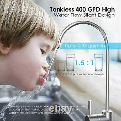 Tankless 400GPD 1.51 RO Drinking Reverse Osmosis Water Filter System Purifier